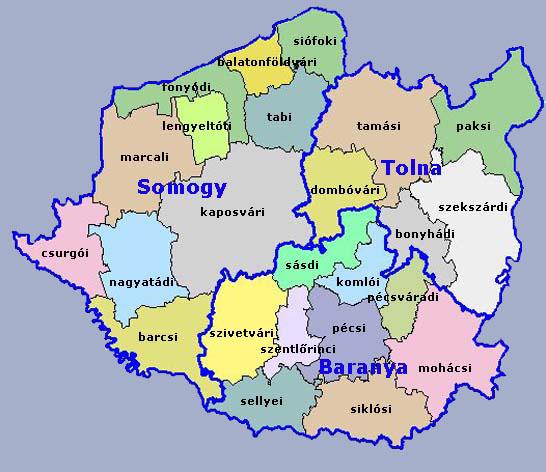 Dél-Dunántúl régió - uniós pályázatok